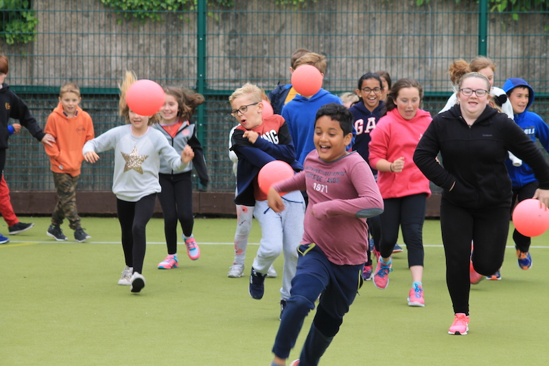 Ball games are great for co-ordination and team work, as well as burning off energy.